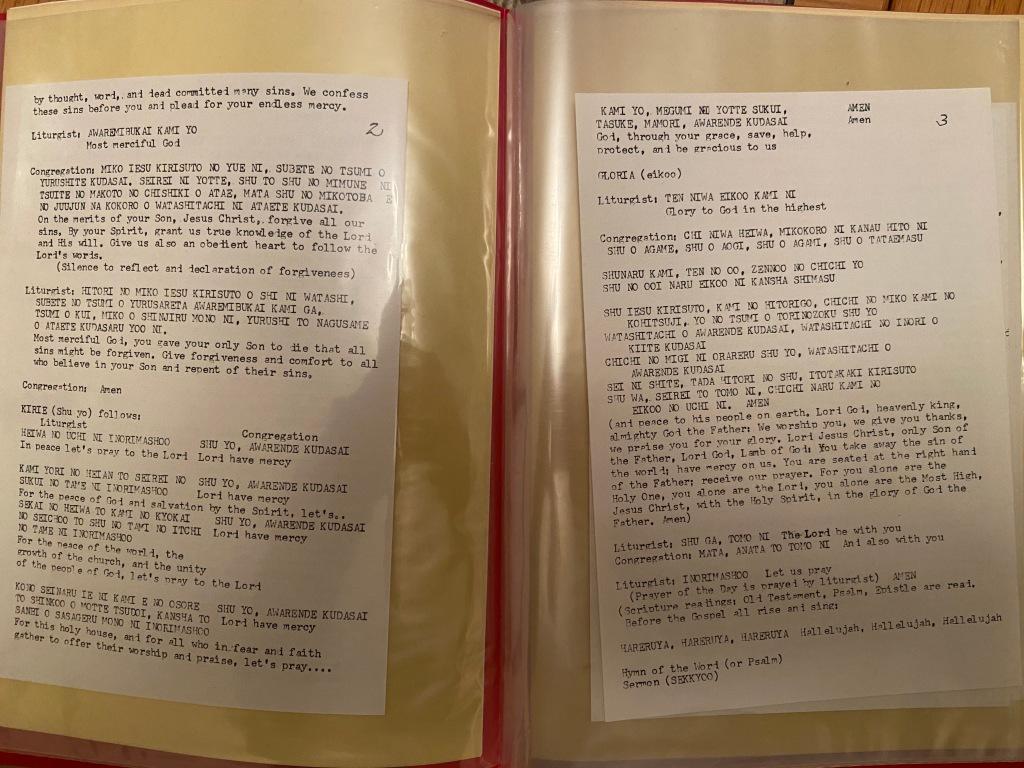 Bilingual service order - Matsumoto Lutheran Church